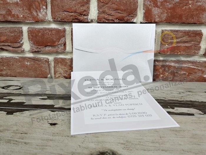 Imagine Invitatii nunta 5396 ramă argintie