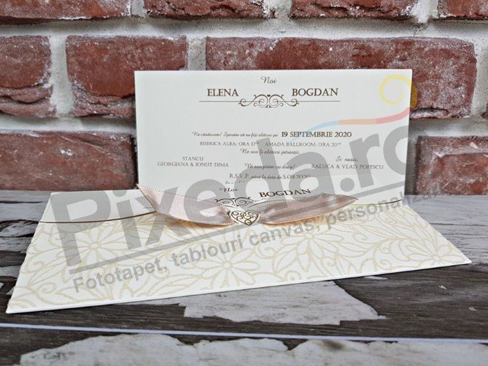 Imagine Invitatii nunta 5463 catifea model floral