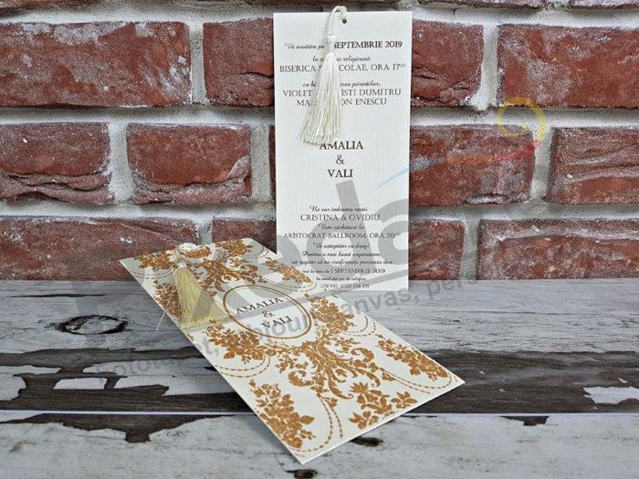 Imagine Invitatii nunta 5465 stil baroc și decupaj