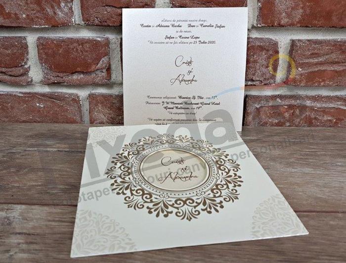 Imagine Invitatii nunta 5535 ramă artistică decupaj