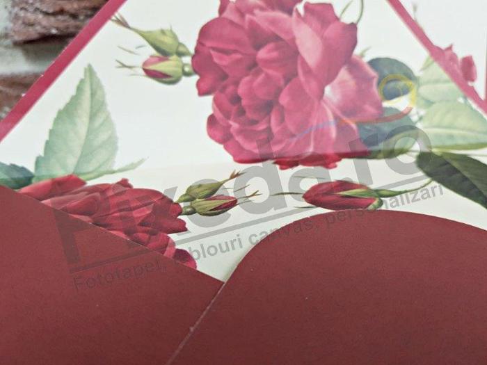 Imagine Invitatii nunta 5566 trandafir vișiniu