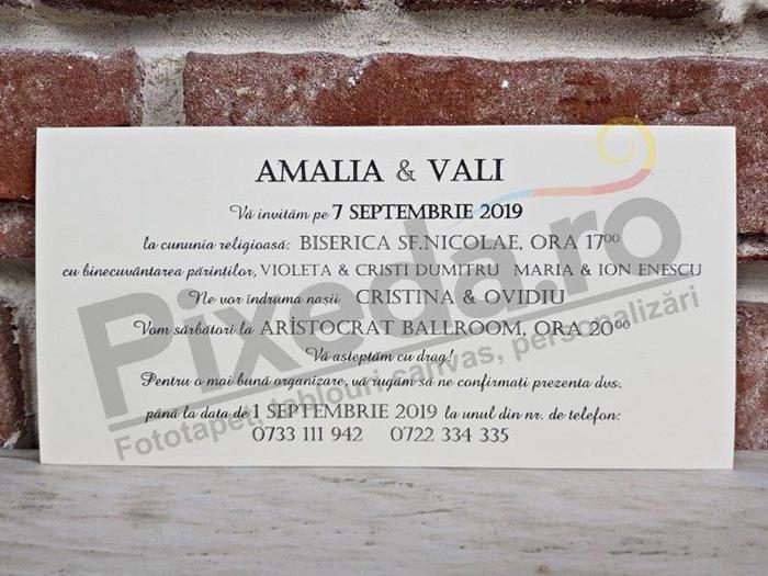 Imagine Invitatii nunta 5571 bijuterie și fundiță