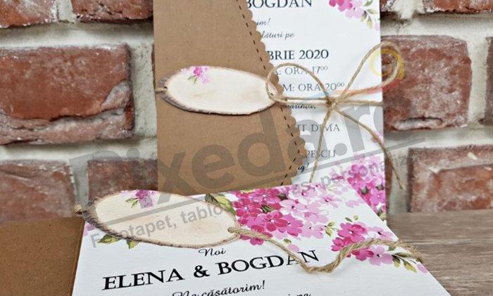 Imagine Invitatii nunta 5590 design natură