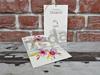 Imagine Invitatii nunta 5604 cu flori și decupaj