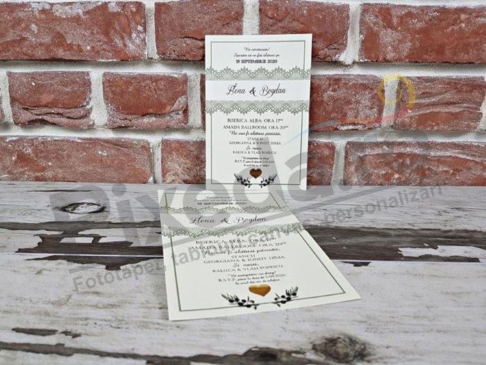 Imagine Invitatii nunta 5610 crenguță măslin