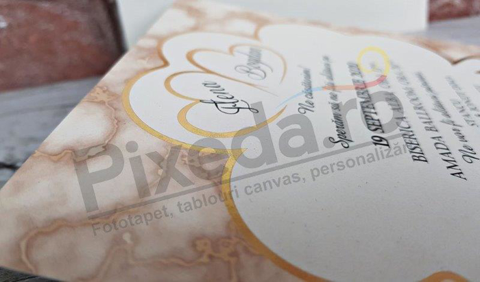 Imagine Invitatii nunta 5612 frunză de trifoi