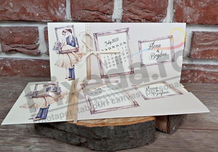 Imagine Invitatii nunta 5616 vintage calendar