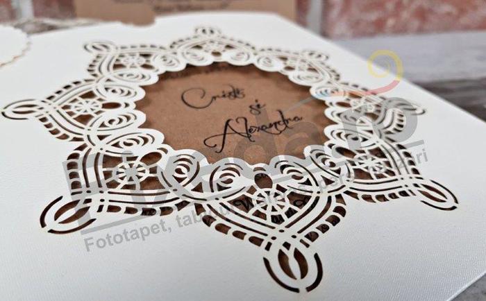 Imagine Invitatii nunta 5621 dantelă broderie