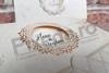 Imagine Invitatii nunta 5623 design elegant decupaj auriu
