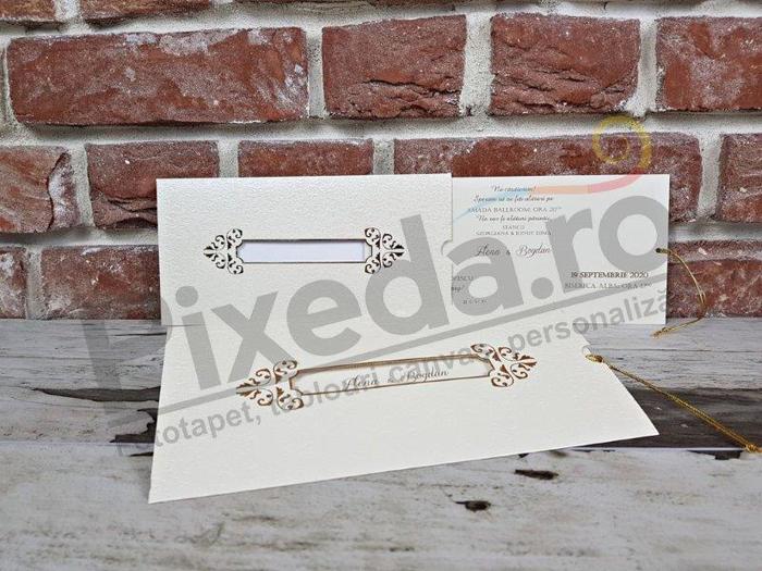 Imagine Invitatii nunta 5625 ornament baroc