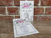 Imagine Invitatii nunta 5637 model romantic cu flori