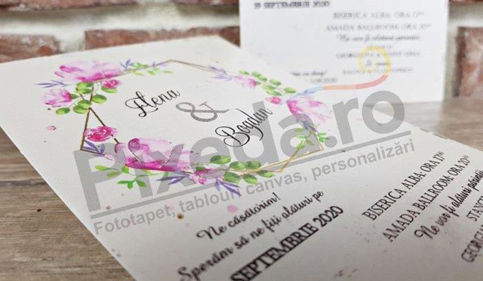 Imagine Invitatii nunta 5638 model floral