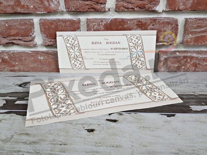 Imagine Invitatii nunta 5639 stil elegant