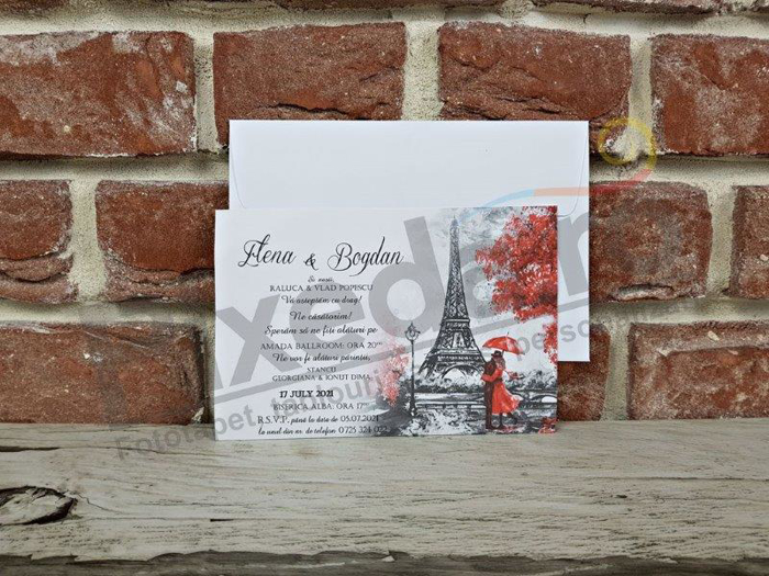 Imagine Invitatii nunta 5643 calendar Paris