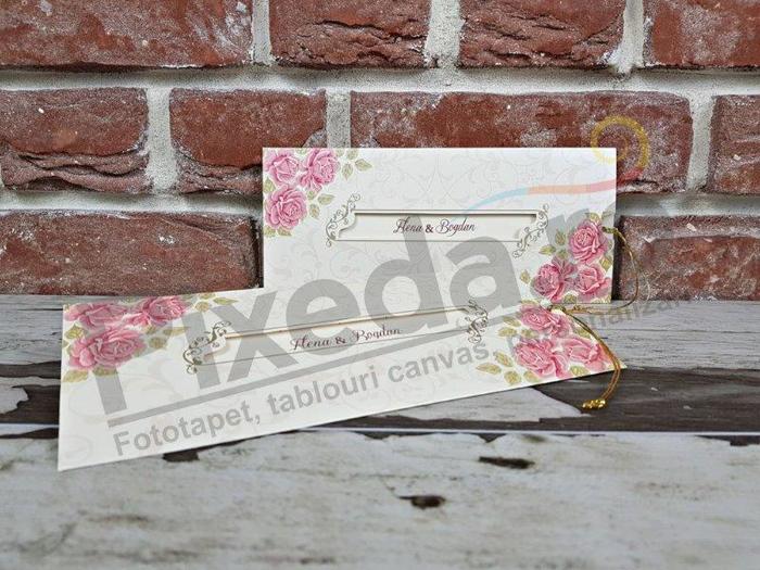 Imagine Invitatii nunta 5653 ornamente florale artistice