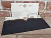 Imagine Invitatii nunta 5654 model elegant plic negru