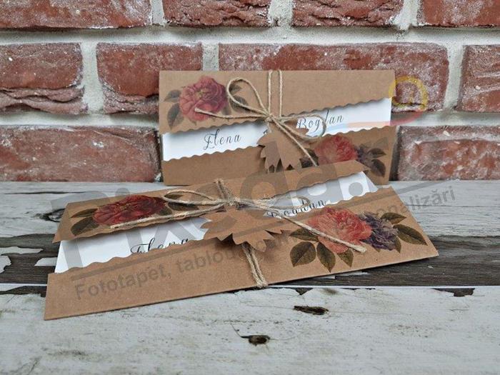 Imagine Invitatii nunta 5655 model etichetă frunză