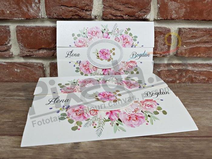 Imagine Invitatii nunta 5656 coroniță flori