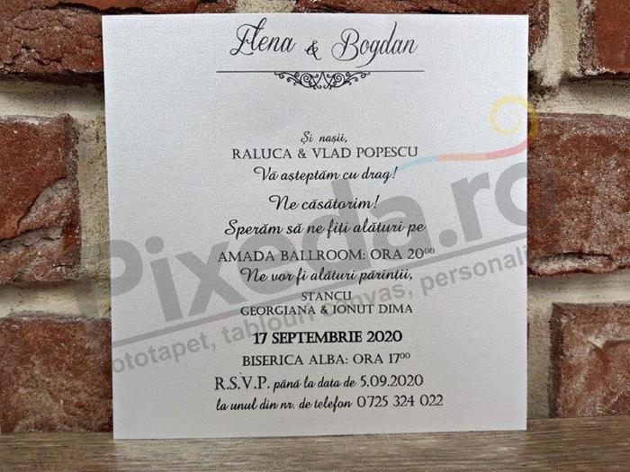 Imagine Invitatii nunta 5660 flori catifea elegante