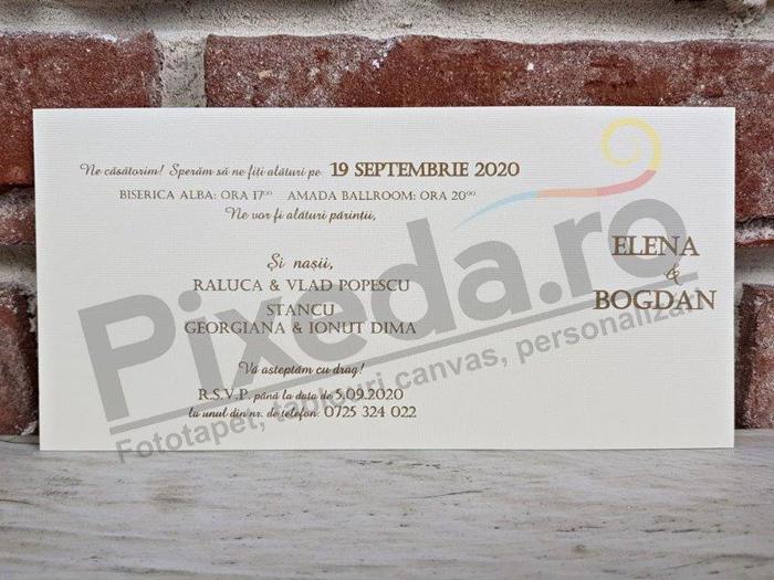 Imagine Invitatii nunta 5661 motive florale și buline