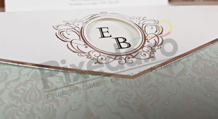 Imagine Invitatii nunta 5662 ornament vintage