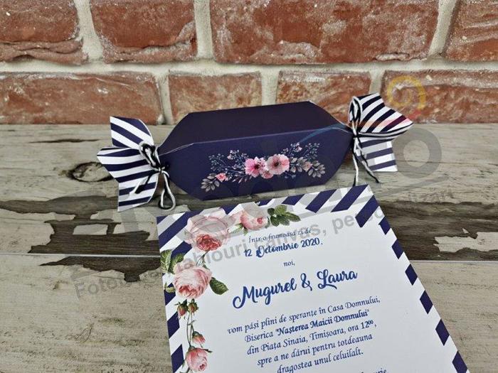 Imagine Invitatii nunta 11549 bomboană
