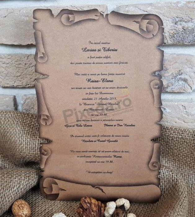 Imagine Invitatii nunta 2468 model pergament