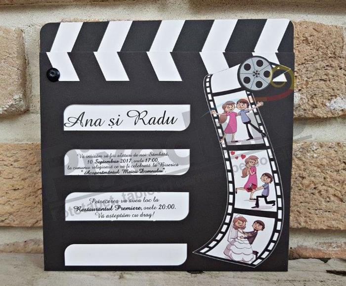 Imagine Invitatii nunta 2609 cinema