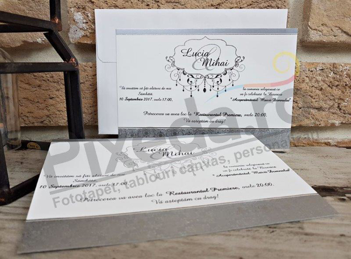 Imagine Invitatii nunta 2631 ornamente stilizate