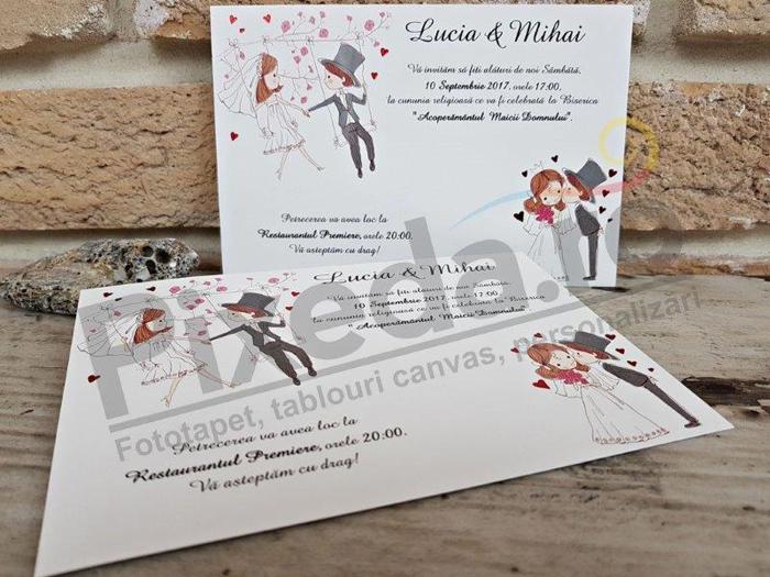 Imagine Invitatii nunta 2638 design romantic