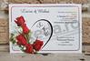 Imagine Invitatii nunta 2656 buchet de trandafiri și inimioară