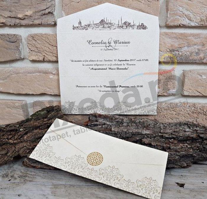 Imagine Invitatii nunta 2663 cu sigiliu