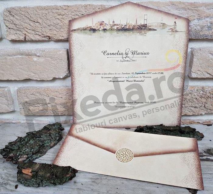 Imagine Invitatii nunta 2664 scrisoare cu sigiliu