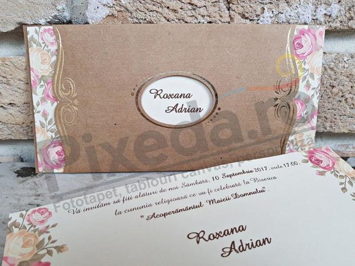 Imagine Invitatii nunta 2665 ornamente florale