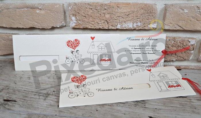 Imagine Invitatii nunta 2667 model căsuță