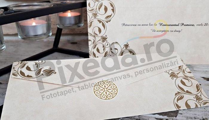 Imagine Invitatii nunta 2668 ornamente stilizate