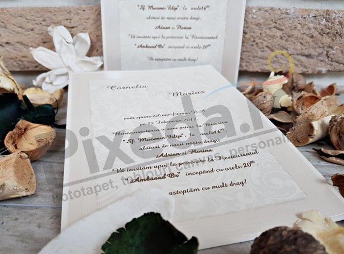 Imagine Invitatii nunta 2684 ramă tablou