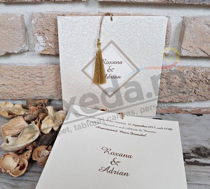 Imagine Invitatii nunta 2688 motive stilizate