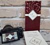 Imagine Invitatii nunta 2696 catifea vișinie elegantă