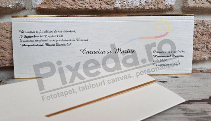 Imagine Invitatii nunta 2698 bordură aurie