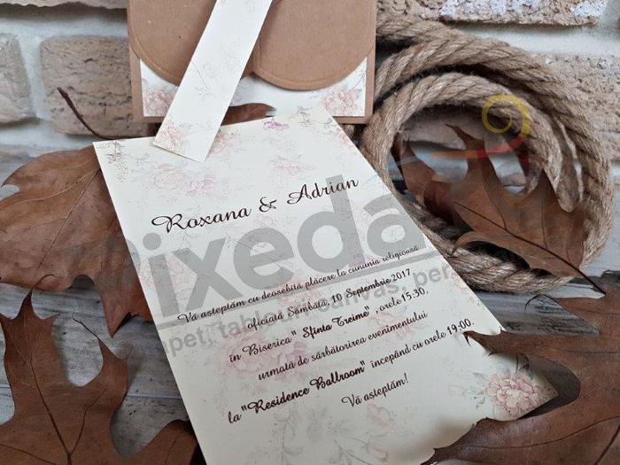 Imagine Invitatii nunta 2699 model vintage