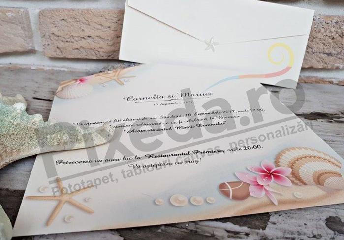 Imagine Invitatii nunta 2701 ornamente marine