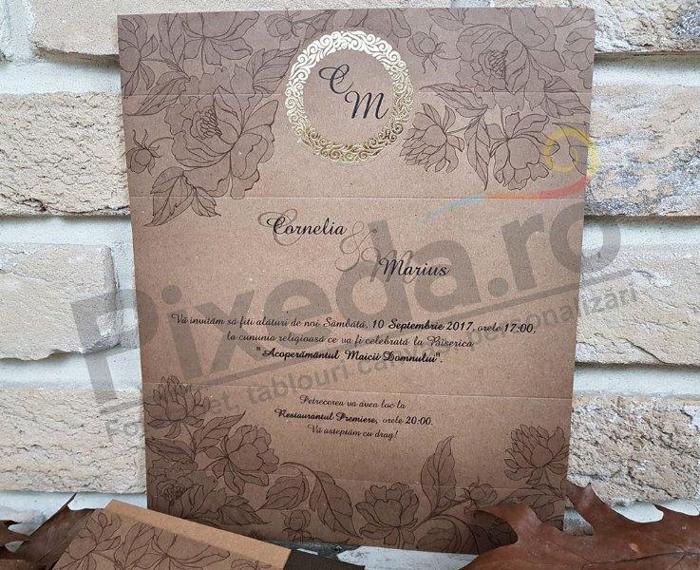 Imagine Invitatii nunta 2708 natura toamna