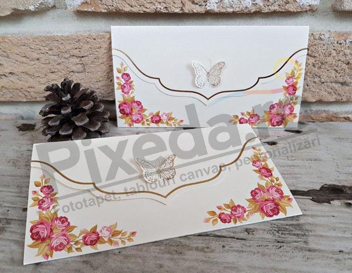 Imagine Invitatii nunta 2720 fluturaș și flori