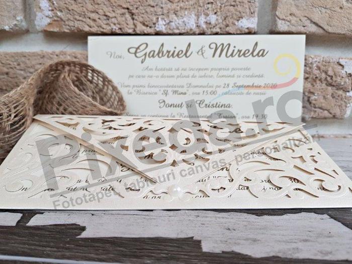 Imagine Invitatii nunta 2732 model brodat