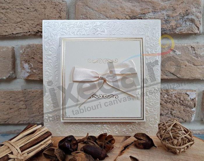 Imagine Invitatii nunta 2733 fundiță elegantă