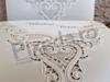 Imagine Invitatii nunta 2736 decupaj dantelă broderie