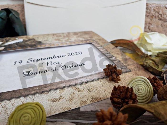 Imagine Invitatii nunta 2737 felicitare și design ramă vintage