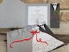 Imagine Invitatii nunta 2739 alb și negru