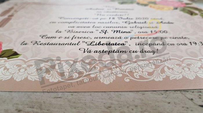 Imagine Invitatii nunta 2744 model flori